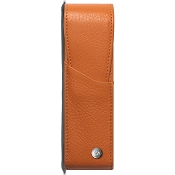 Caran d'Ache Leman Saffron Leather Two Pen Case