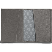 Caran d'Ache Leman Grey Leather Business Card Holder
