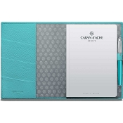Caran d'Ache Leman Turquoise Blue Leather A5 Notebook
