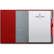 Caran d'Ache Leman Scarlet Red Leather A5 Notebook