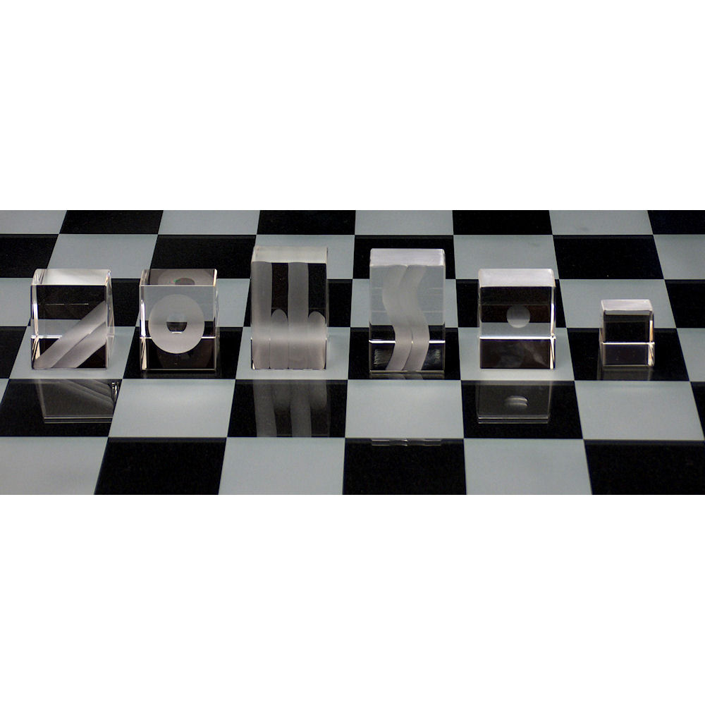 Inclined Crystal Chess Set - Limited Edition
