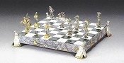 Indians Gold and Silver Themed Chess Board