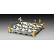 Cowboys vs Indians Gold and Silver Themed Chess Set