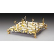 Gulliver Gold and Silver Themed Chess Board
