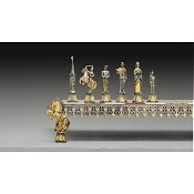 Asburgo Lorena Secolo XVIII Gold and Silver Theme Chess Pieces