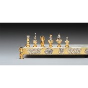 I Simboli Del Poker Gold and Silver Themed Chess Pieces
