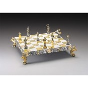 The Vikings - Norse Warriors Gold and Silver Chess Board