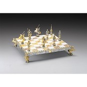 Dmitry Donskoy - Russian Prince Gold and Silver Themed Chess Set