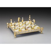 Mori Invasori Di Spagna (Moors Invade Spain) Gold and Silver Chess Set