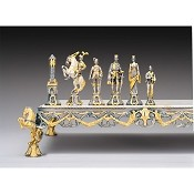 Rinascimento Fiorentino XV Secolo Gold and Silver Theme Chess Pieces