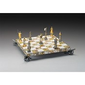 Napoleon Bonaparte Emperor Gold and Silver Themed Chess Board