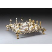 Medieval Battle - Century XIII Themed Chess Set | Gold & Silver