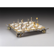 Napoleon Bonaparte First Emperor of France Chess Set | Gold & Silver