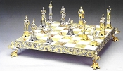 Medici vs Pazzi (1478) Gold Silver Chess Board
