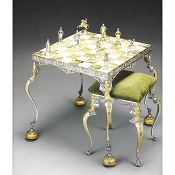 Louis XIV - Sun King ( From 1643) Chess Set | Table and Chairs