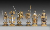 Romani/Egizi Stile Gold and Silver Themed Chess Pieces