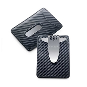 Dalvey Nocturna Credit Card Case & Money Clip - Black Carbon Fiber