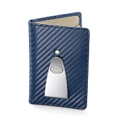 Dalvey Continental Credit Card Case & Money Clip - Navy Blue
