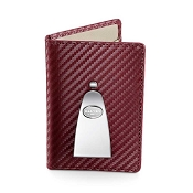 Dalvey Continental Credit Card Case & Money Clip - Burgundy