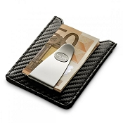 Dalvey Sport Credit Card Case & Money Clip | Black Carbon