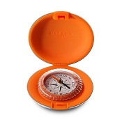 Dalvey Pocket Compass - Orange Silicon and Stainless Steel