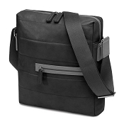 Fedon 1919 Award Micro-2 Black/Dark Grey Leather Man Purse Tablet Bag