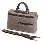 Fedon 1919 Award AW-FILE-1 Taupe/Brown Leather Laptop Bag