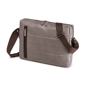Fedon 1919 Award AW-MESSENGER-1 Taupe/Brown Leather Shoulder Bag