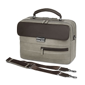 Fedon 1919 Award AW-BRIEF-1 Taupe/Brown Leather Tech Briefcase