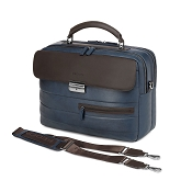 Fedon 1919 Award AW-BRIEF-1 Blue/Brown Leather Tech Briefcase