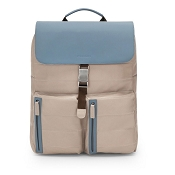 Fedon 1919 Award AW-BACKPACK Taupe/Blue Grey Leather Bag