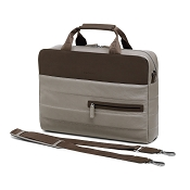 Fedon 1919 Award AW-FILE-1N Taupe/Brown Leather Laptop Bag