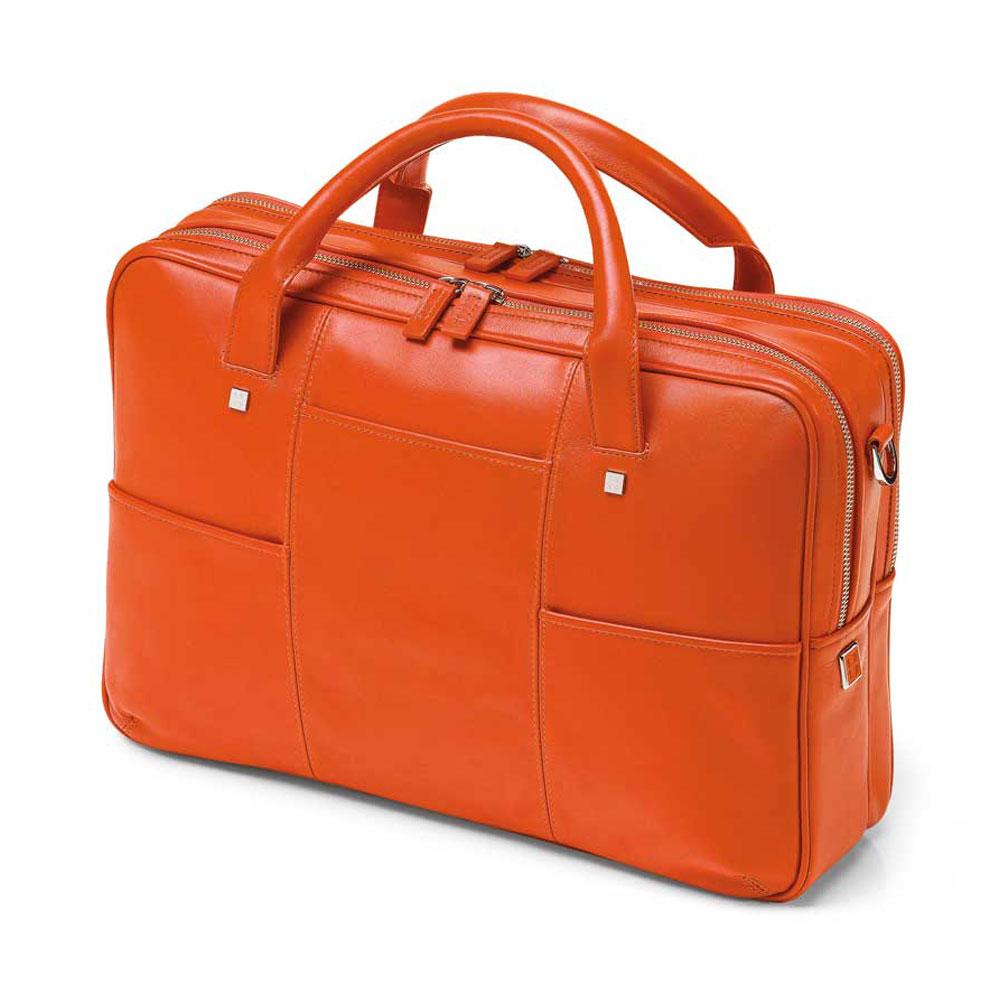 Fedon 1919 British Bt File 2 Zip Orange Leather Executive Luxury Laptop Bag