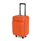 38a08506e6d9 Fedon 1919 British BT-TROLLEY Orange Leather Travel Bag