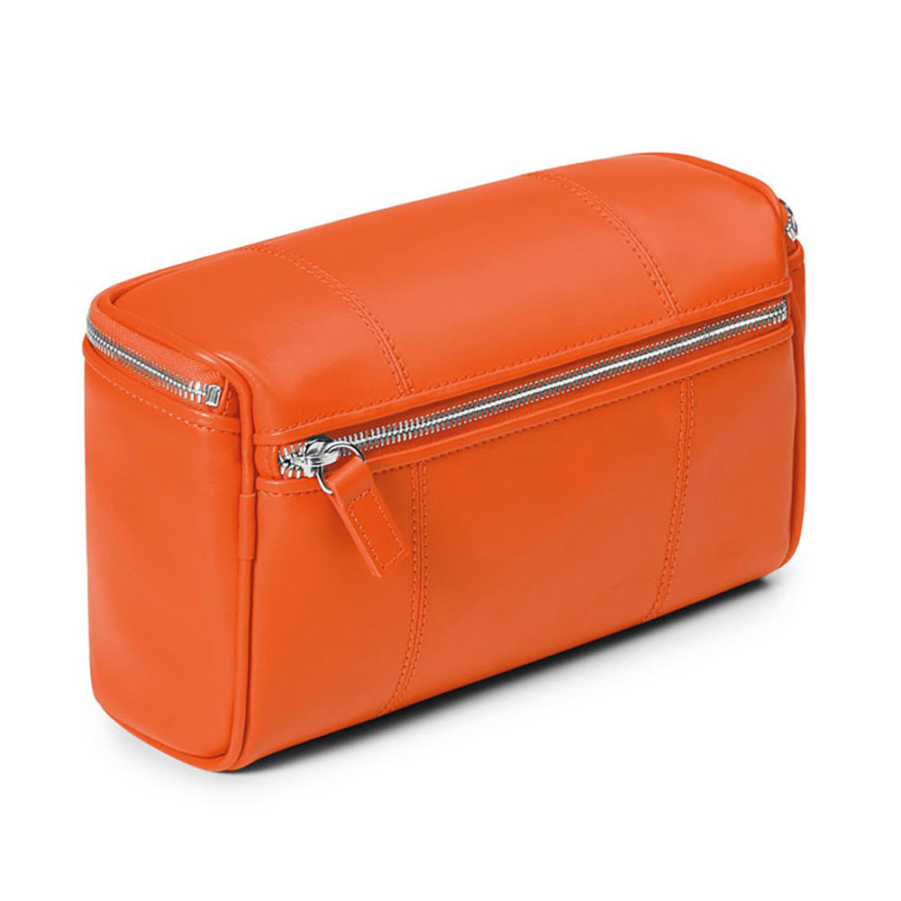 38118ca74551 Fedon 1919 British BT-BEAUTY Orange Leather Travel Toiletry Bag