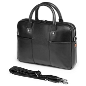 Fedon 1919 British BT-FILE-0 Black Leather Laptop Bag