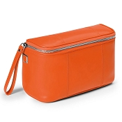 Fedon 1919 British BT-BEAUTY Orange Leather Travel Toiletry Bag