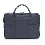 Fedon 1919 British BT-FILE-2-ZIP Blue Leather Executive Luxury Laptop Bag
