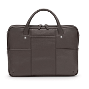 Fedon 1919 British BT-FILE-2-ZIP Mud Brown Leather Executive Luxury Laptop Bag