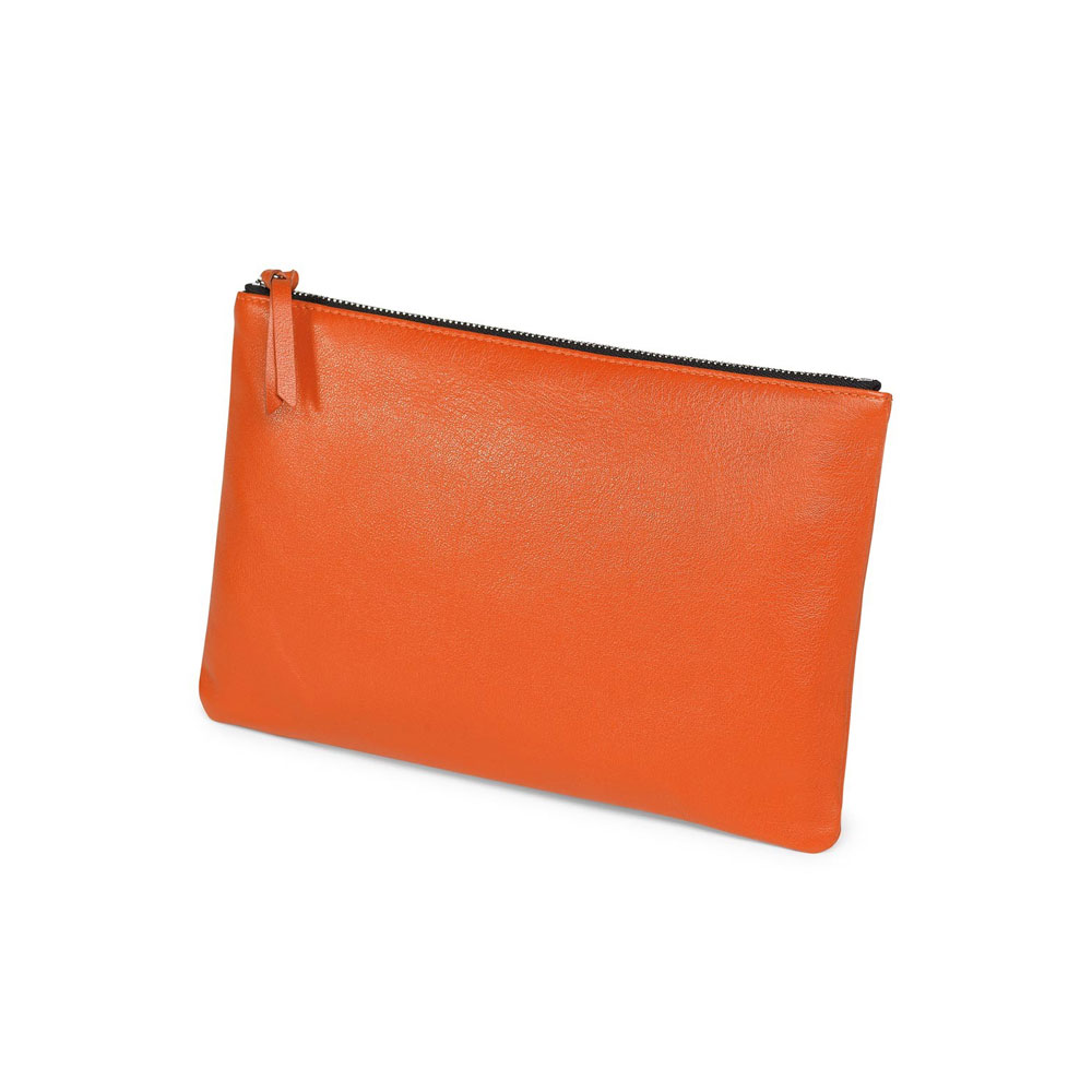 Fedon 1919 Classica BUSTA-G Orange Leather Pouch