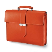 Fedon 1919 Classica CLASS-2 Leather Briefcase - Orange