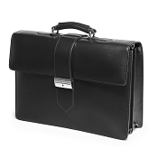 Fedon 1919 Classica CLASS-4 Leather Briefcase - Black