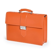 Fedon 1919 Classica CLASS-4 Leather Briefcase - Orange