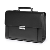 Fedon 1919 Classica MIB-TUC-M Leather Briefcase - Black