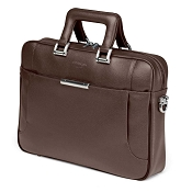 Fedon 1919 Orion OR-FILE-1 Leather Laptop Bag - Earth Brown