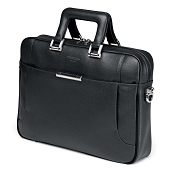 Fedon 1919 Orion OR-FILE-1 Leather Laptop Bag - Dark Grey