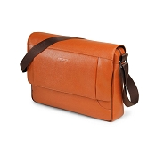 Fedon 1919 Orion OR-MESSENGER-2 Leather Shoulder Bag - Orange