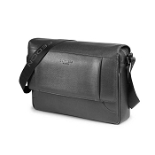 Fedon 1919 Orion OR-MESSENGER-2 Leather Shoulder Bag - Dark Grey