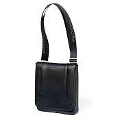Fedon 1919 Orion Leather Man Purse Tablet Bag - Dark Grey