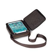 Fedon 1919 Orion Leather Man Purse Tablet Bag - Brown